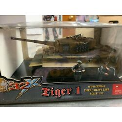 Ultimate Soldier 20230 German Camo Panzer Tiger I Heavy Tank & 2 Crew 1/32 New