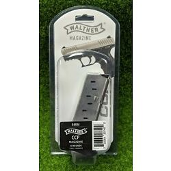 Walther CCP 9mm 8 Round OEM Factory Stainless Steel Magazine, Black - 50860002