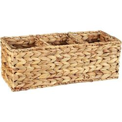Natural Metal Wire Better Homes & Gardens Woven Water Hyacinth Tank Bucket