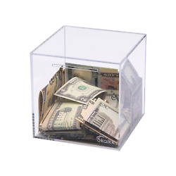 Piggy Bank for Adults, Must Break to Open, Clear Acrylic Money Bank