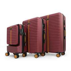 20'' 26'' 30'' 3 Piece Set Spinner Suitcase ABS Trolley Luggage Rolling TSA Lock