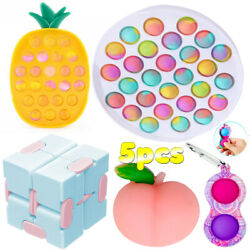 Fidget Toys Anti Stress Set Adults Pineapple Figet Sensory Squishy Relief 5Pack