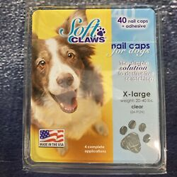 Soft Claws 40 Nail Caps For Dogs X-large Clear