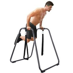 Dipping Station Fitness Strength Training Exercise Dip Bar Slings Loops Gym&Home