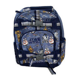 Pottery Barn Kids Star Wars Droid Backpack Blue -  Small