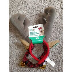 Outward Hound Holiday Antler Bell Collar Combo Pack Christmas Dogs Size Large