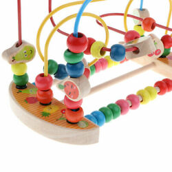 Bead Maze Roller Coaster Wooden Educational Circle Toy