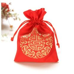 Lucky red brocade bag feng shui, fortune and luck