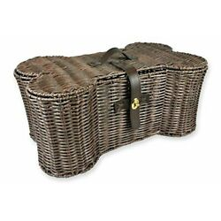 Pet Storage Collection Toy Basket Large (Pack of 1) Plastic Wicker