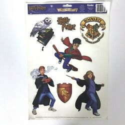 Vintage Harry Potter Window Decorations Decals Stickers Clings Warner Bros 2002