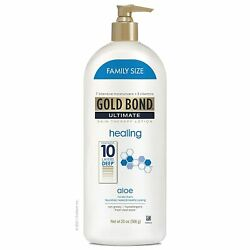 Gold Bond Ultimate Healing Skin Therapy Lotion with Aloe, Family Size, Gold F...