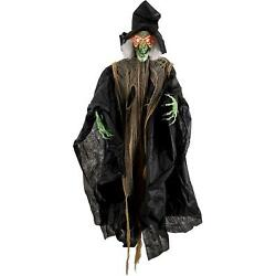 Halloween Haunters 6 Foot 72'' Life Size Hanging Talking Wicked Witch Animated.