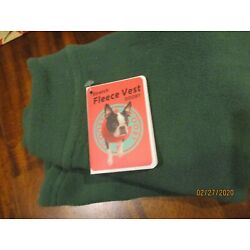Stretch Fleece Vest GOOBY new with tag fleece Green XL pullover