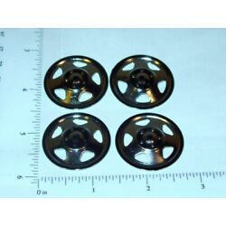 Set of 4 Plated Tonka Triangle Hole Hubcap Toy Parts TKP-002