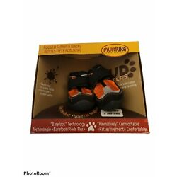 2 Boots Muttluks Mud Monsters Dog Boots Shoes Size 2 XS Orange Black