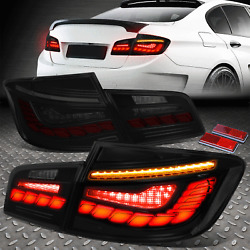 [SEQUENTIAL SIGNAL START UP LED DRL] FOR 11-16 BMW F10 TAIL BRAKE LIGHTS SMOKED