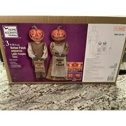 3 Ft Rotten Patch Animated LED Pumpkin Twins 2021 Home Depot Accents HARD 2 FIND