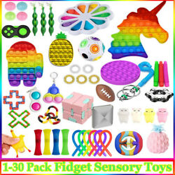 Fidget Toys 1-30 Pack Sensory Toy Antistress Relief Autism Anxiety Bubble Relax