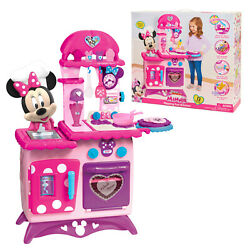Disney Junior Minnie Mouse Flipping Fun Kitchen with Realistic Sounds, 13 Pieces