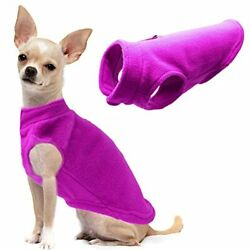 Dog Fleece Vest Soft Winter Jacket Sweater with D-Ring Leash Cold Weather Coat H