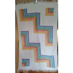 Vintage Lady Pepperell Rainbow Hand Towel 23'' X 38'' Terry Cloth Pride Retro COOL