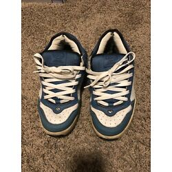 Used Adio Kenny Anderson light blue / white leather skate shoes size 12