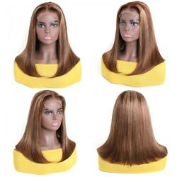 UNice Straight 14  Wig TL412 Honey Blonde Highlight Lace Part Wig 150% Density
