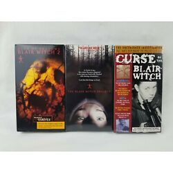 Curse Of The Blair Witch Project/  Sealed VHS Tape Book Of Shadows Used Lot of 3