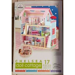 KidKraft Chelsea Wooden Dollhouse Pretend Play Cottage with Furniture. Mod 65054