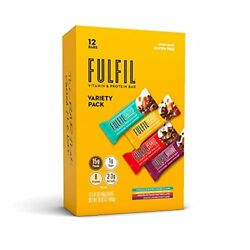 FULFIL Vitamin and Protein Bars Best Sellers Variety Pack Snack Sized Bars wi...