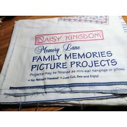 VINTAGE DAISY KINGDOM MEMORY LANE FAMILY MEMORIES PICTURE PROJECTS CRAFT FABRIC