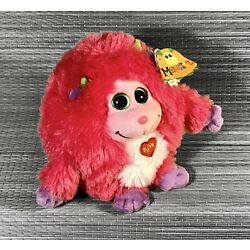+ 2012 TY Monstaz Trixie Still Babbling Pink Purple Soft Plush With Tags +