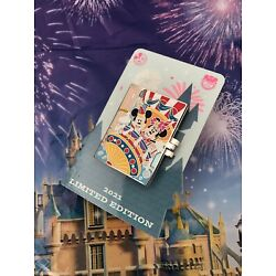 Disney Parks 2021 Mickey & Minnie Mouse Festival Annual Passholder Hinged Pin