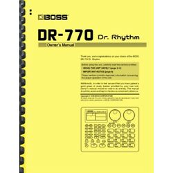 Boss Dr. Rhythm DR-770 Owner's Manual AND Service Notes