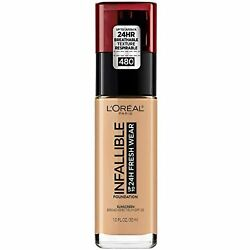 L'Oreal Paris Makeup Infallible Up to 24 Hour Fresh Wear Foundation, Radiant