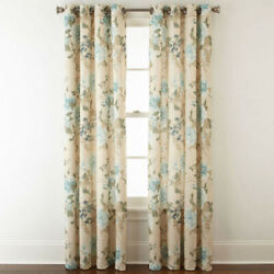 JCPenney Home Farrah  SOFT BLUE Grommet Top Curtain Panel SINGLE 50x84in