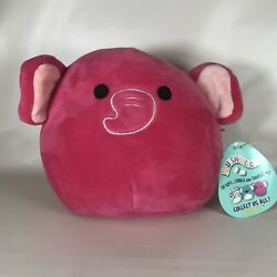 Kellytoy Squishmallow Hot Pink Elephant Evelyn Stuffed Animal No Name Tag