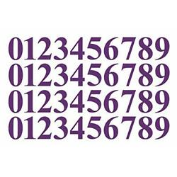 0 to 9 Number Stickers Plum Vinyl Decals Set of 40 Choose Size 1'' to 12'' Busi...