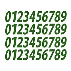 0-9 Numbers Green Vinyl Sticker Decals Assorted Set of 40 Choose Size 1/2'' to...