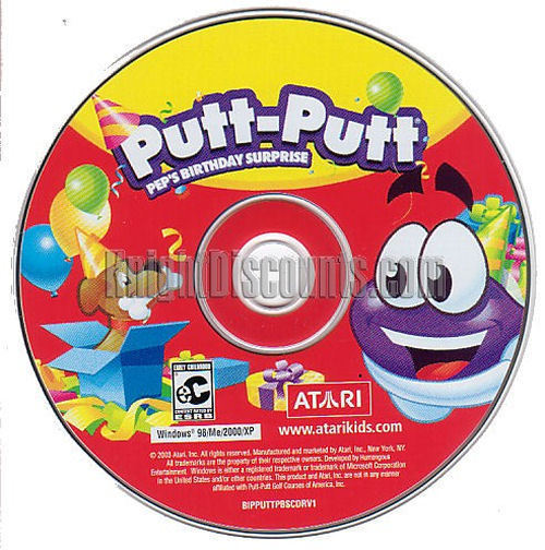 Putt-Putt PEP'S BIRTHDAY SURPRISE Kids Educational Game