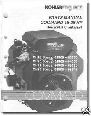 Service manual Kohler Cv25s Parts
