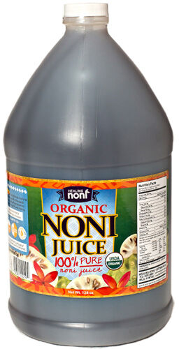 Noni Concentrate 650 Mg: 100% PURE NONI JUICE ~ CERTIFIED ORGANIC ~ 4 GALLONS