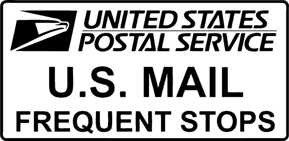FREQUENT STOPS Carrier Decal USPS - 3