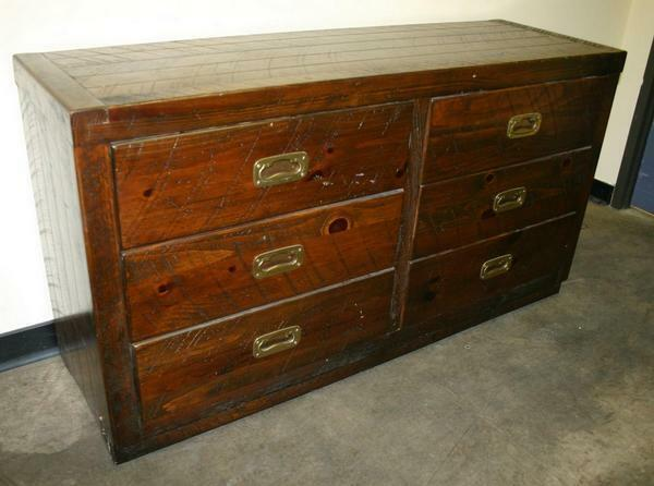 ANTIQUE STYLE TRADITIONAL English Credenza 6 Drawer Chest Dresser Cabinet |  EBay