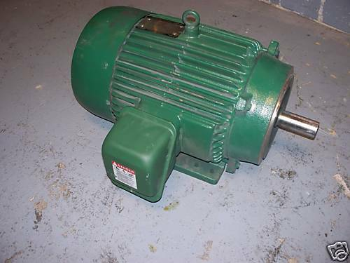 Toshiba electric motor 15 horse power 3 phase good used ebay for 450 hp electric motor
