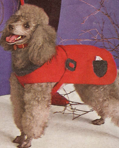Knitting Pattern Dog Jacket : Vintage Knitting PATTERN Dog Sweater Coat Small Med Lg eBay