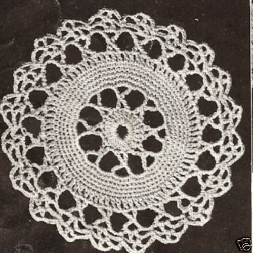 Crochet Motif Block Star Wheel Round Tablecloth Pattern Ebay