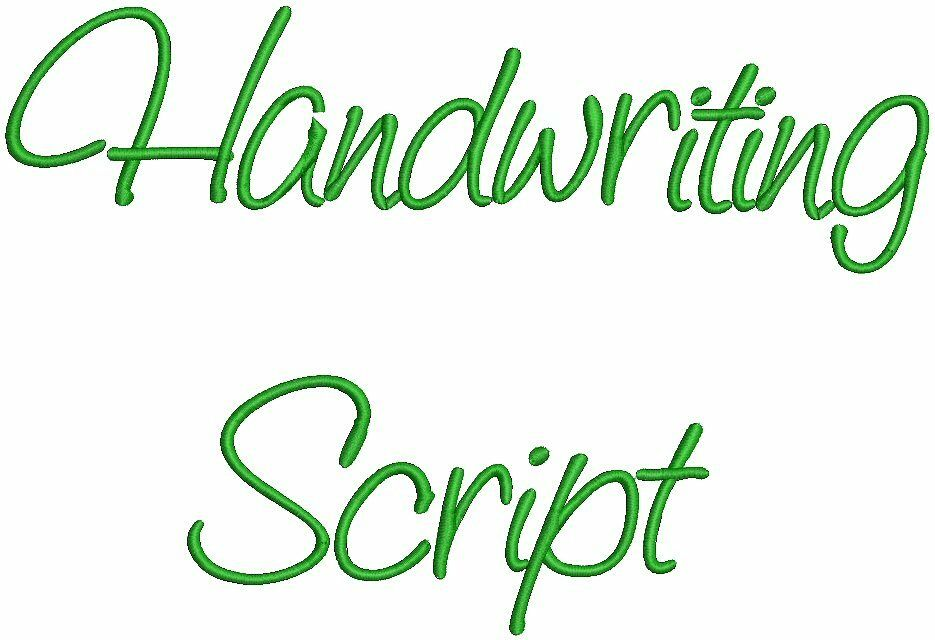Handwriting fonts machine embroidery designs cd quot font ebay