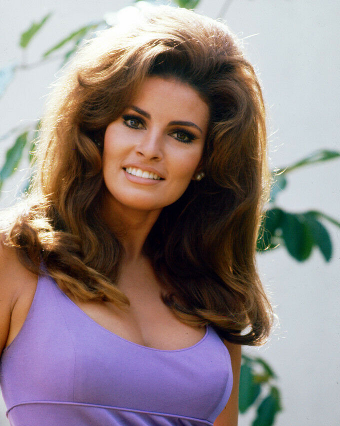 Top 60 Best White Bathroom Ideas: RAQUEL WELCH BUSTY 8X10 COLOR PHOTOPURPLE TOP 60'S