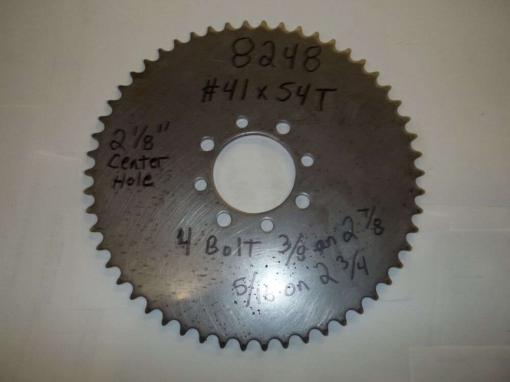 Go Kart Sprockets And Chains : Go kart mini bike rear sprocket new tooth ebay